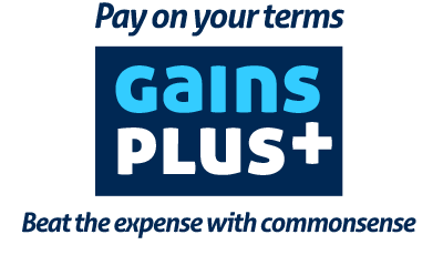 Gains PLus - Pay on your terms. Beat the expense with commonsense.